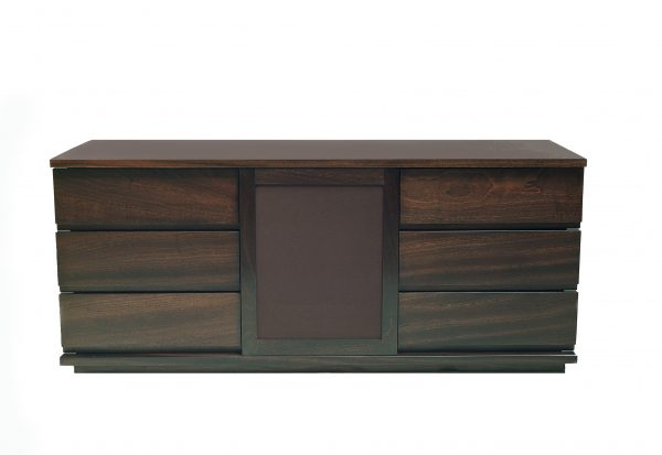 Luxurious-home-cinema-dark-mahogany-cabinet