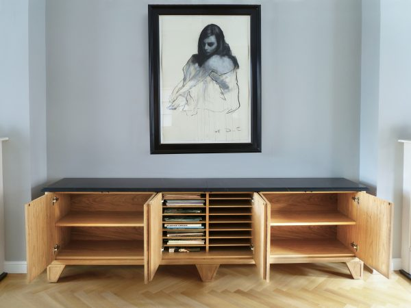 Elegant credenza with storage for sheet music